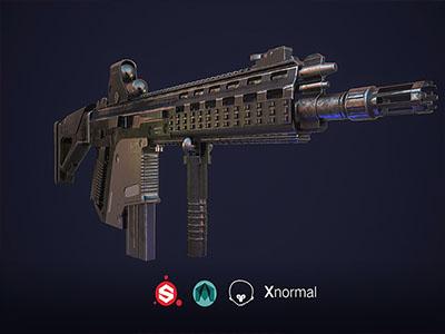 次世代G56突击步枪MAYA制作课程